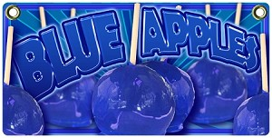 Blue Candy Apples