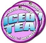 Iced Tea seved over ice sweet -unsweet