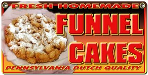 Funnel Cakes yellow w/paper