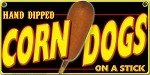 Corndogs Hand Dipped BLACK