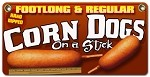 Footlong and Regular Corndogs