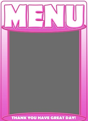 Menu Board Chalk pink