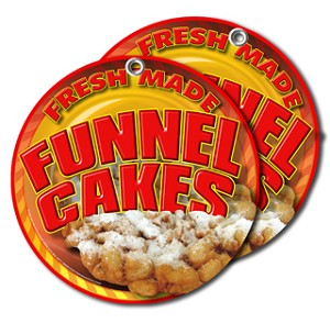 Funnel Cakes yellow and orange