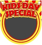Menu Board Chalk Kids Day hanger