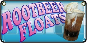 Rootbeer Floats  blue and pink